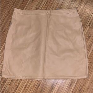 Faux Leather Tan mini skirt